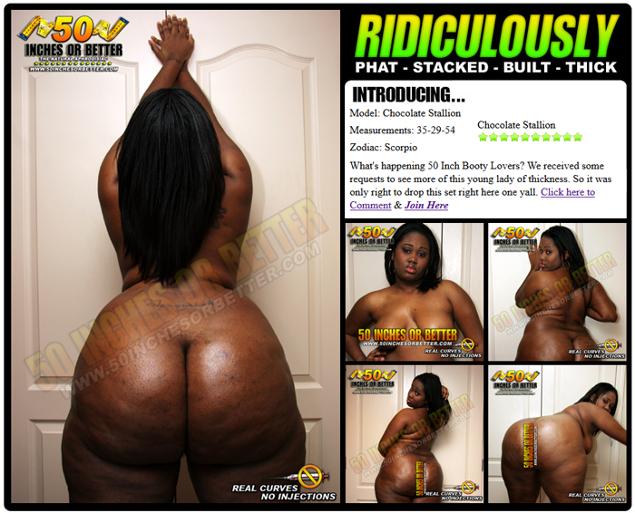 Chocolate Booty 54 Inches!!!